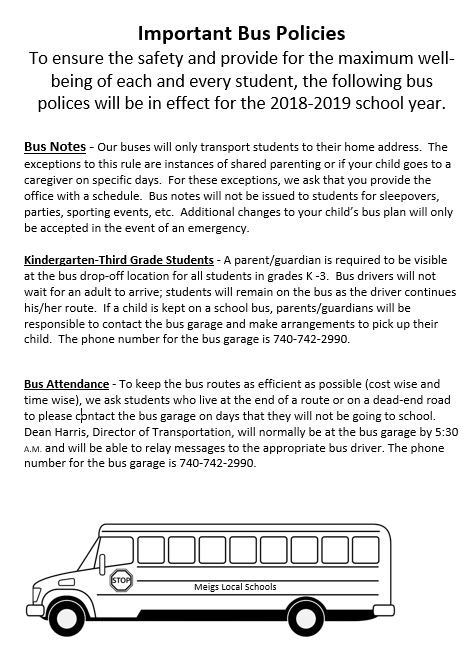 bus policy changes